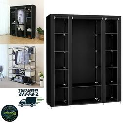 Closet Organizer Wardrobe Portable Shelves Storage Strong Mo