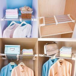 closet tension shelf rod expandable metal storage