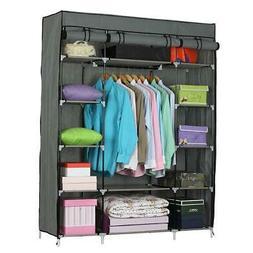 Closet Wardrobe Clothes Rack Ample Storage Space Organizer S