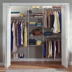 Closetmaid Closet Organizer Kit With Shoe Shelf 5 To 8 Home