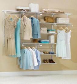 Rubbermaid Configurations 4 - 8 ft. White Deluxe Closet Kit