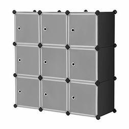 Cube Storage Organizer, 9-Cube DIY Plastic Closet Cabinet, M