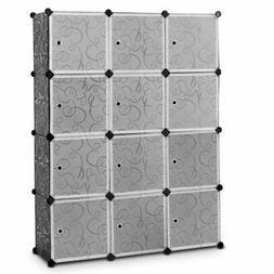 DIY 12 Cube Portable Closet Storage Organizer Clothes Wardro