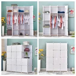 DIY Wardrobe Closet Armoire Storage Cube Organizer with Door