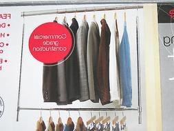 double hang closet rod commercial grade organizer