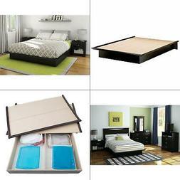 Double Platform Bed Full Size Frame Storage Modern Furniture