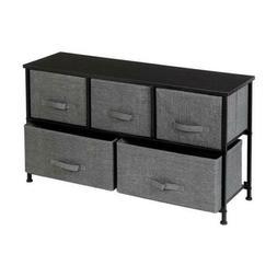 Dresser 5 Drawer Bedroom Furniture Storage Chest Organizer C