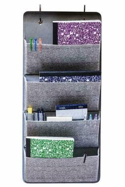 Elegant Wonders 4 Pocket Fabric Wall Organizer For House, Cl