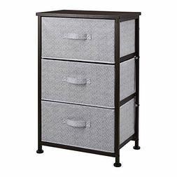 Fabric 3-Drawer Storage Organizer Unit for Closet, Bronze