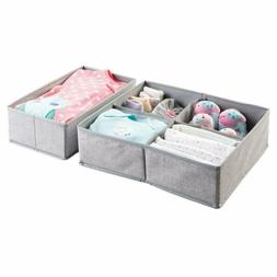 Mdesign Fabric Baby Nursery Closet Organizer For Clothes, To