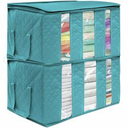 Sorbus Foldable Storage Bag Organizers,Great for Clothes/Bla