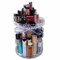 WEBI Gorgeous Acrylic Makeup Organizer: Thicken, 360̊ Rotat