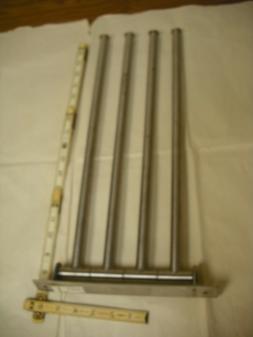 IKEA - GRUNDTAL, 4-Arm Swinging Stainless Steel Towel Rack #