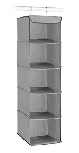 Whitmor 5 Section Closet Organizer - Hanging Shelves with St