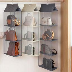 Hanging Handbag Organizer 6 Pockets Shelf Bag Storage Holder