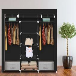 Heavy Duty Closet Wardrobe Space Saving Portable Clothes Sto