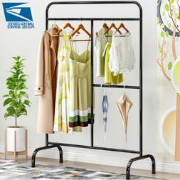 Heavy Duty Garment Rack Iron Clothes Coat Storage Stand Clos