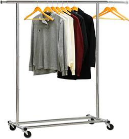 Simple Houseware Heavy Duty Clothing Garment Rack, Chrome