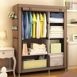 Heavy Duty Portable Closet Storage Organizer Clothes Shelf W