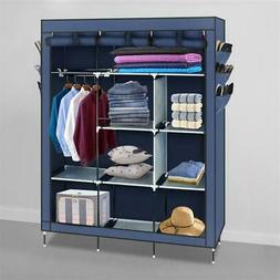 Heavy Duty Portable Closet Storage Organizer Wardrobe Clothe