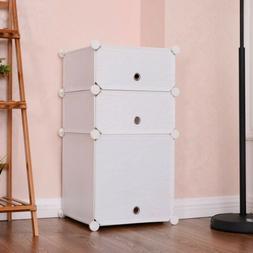 Home Bookcase Storage Cabinet Books Closet Organizer with 3