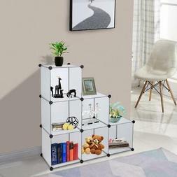 Home Cube Storage Organizer 6-Cube Shelves Unit Modular Clos