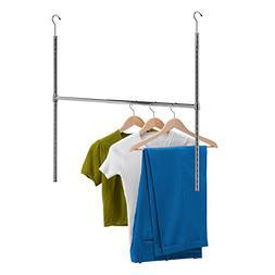 Honey Can Do HNG-01816 Chrome Adjustable Hanging Closet Rod