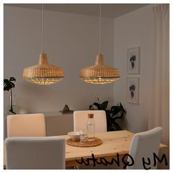 "Ikea INDUSTRIELL Pendant Lamp Bamboo 16"" NEW"