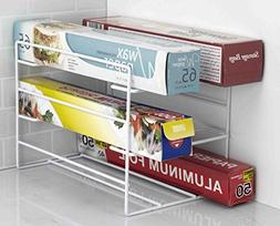 Home Basics Kitchen Wrap Organizer Rack, White
