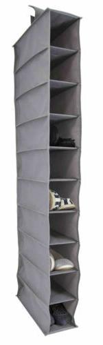 10 shelf closet organizer one size grey