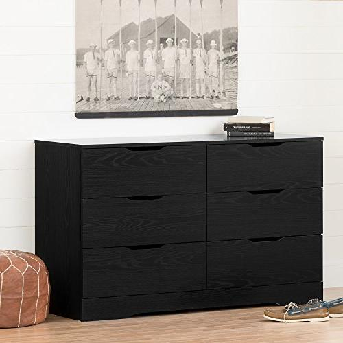 South 6-Drawer Dresser, Oak