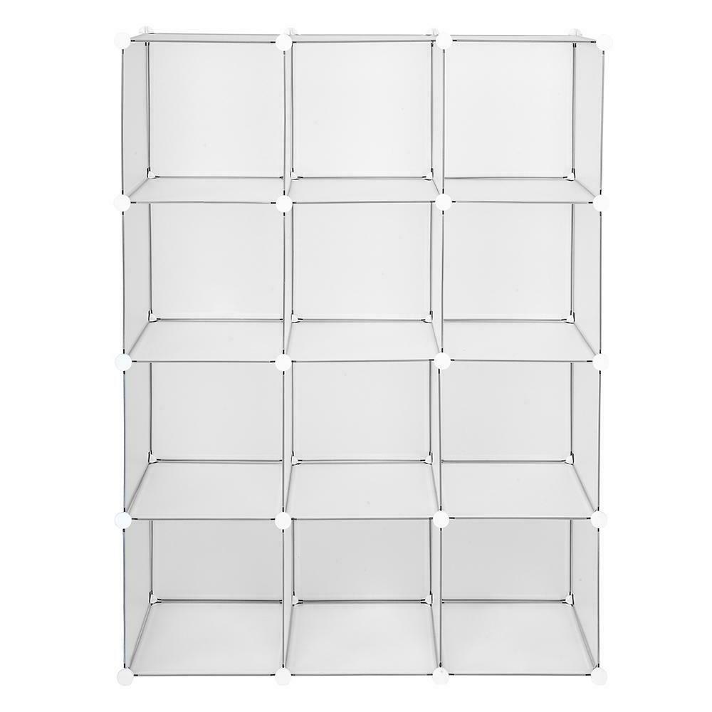 12-Cube Shelf Shelves Closet Cabinet Bookcase