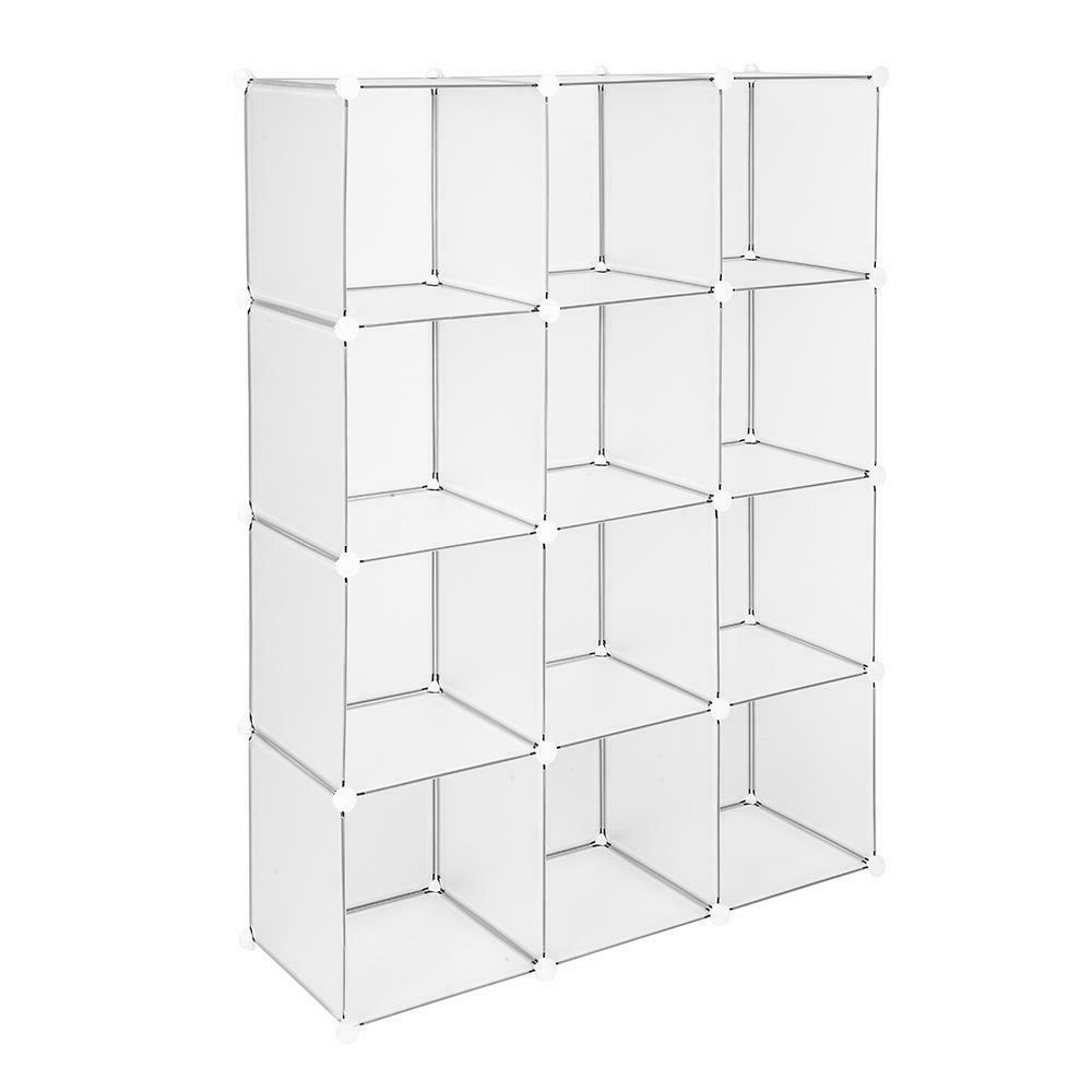 12-Cube Book Shelves Shelf Cabinet