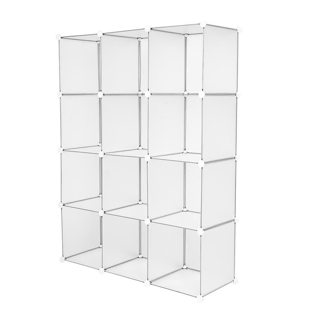 12-Cube Book Shelf Storage Shelves Closet Shelf Cabinet US
