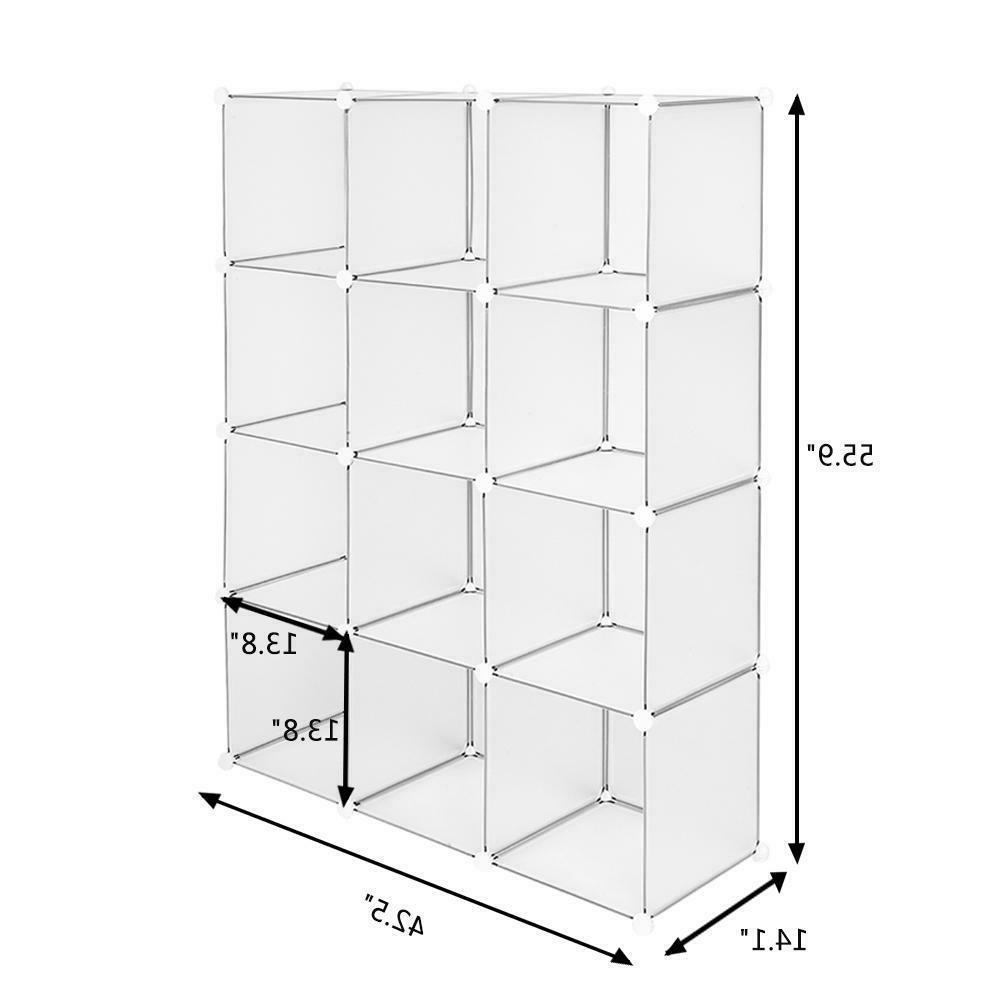 12-Cube Shelves Cabinet