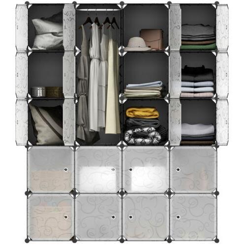Closet Organizer Shelf Rack Shelves Fabric