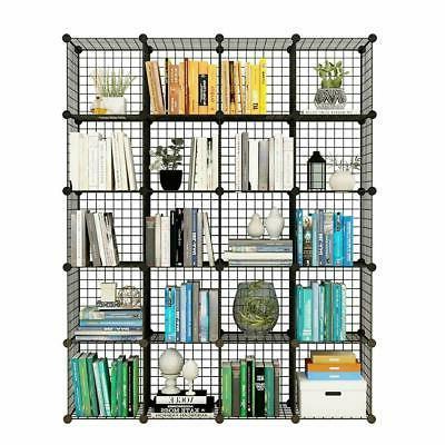 20 Cube Wire Grid Organizer Bookcase Storage Cabinet Wardrob