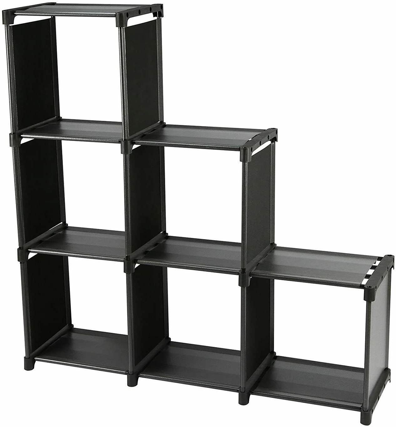 3 tiers 6 cubes storage cabinet closet
