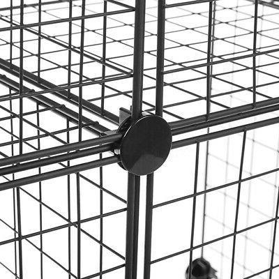 4-Cube Storage Organizer Stackable Metal Grid Wire