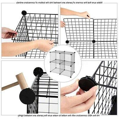 4-Cube Shelves Grid Wire