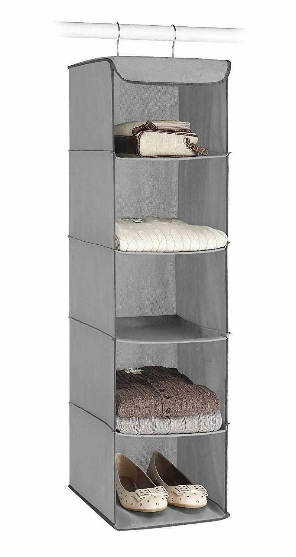5 Section Shoe Storage Hanging Shelf Rack,