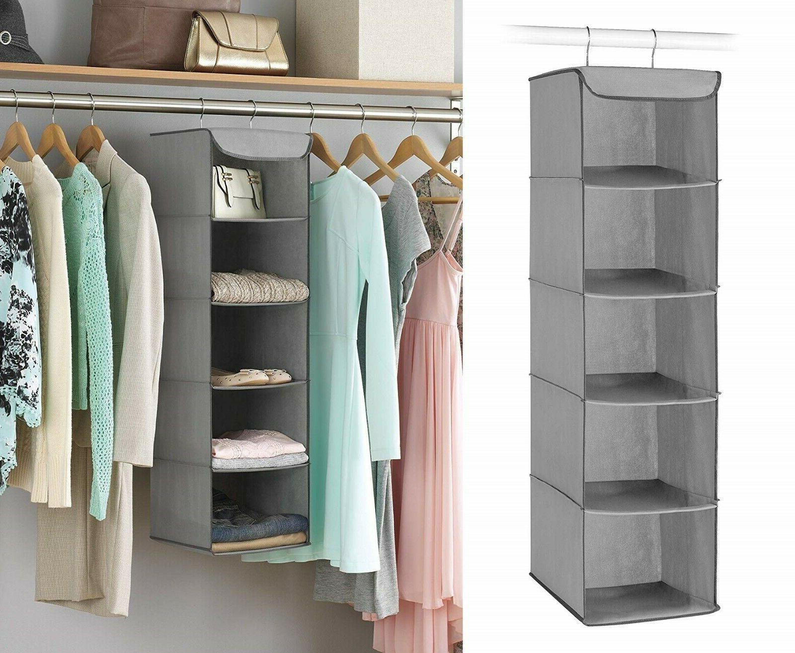 5 section space saving shoe storage closet