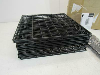 6-Cube Storage Shelves Closet Organizer Bins Metal Grid Wire
