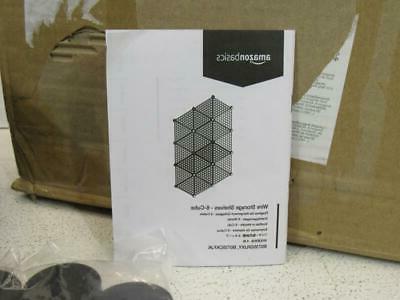 6-Cube Shelves Organizer Stackable Grid