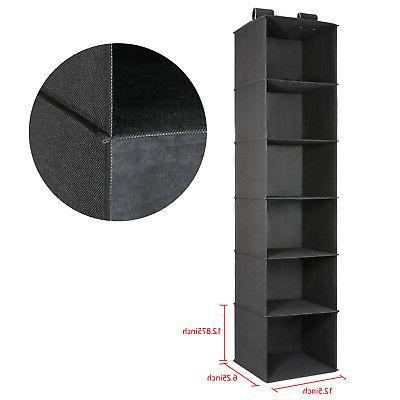 6-Shelf Closet Socks Box Holder