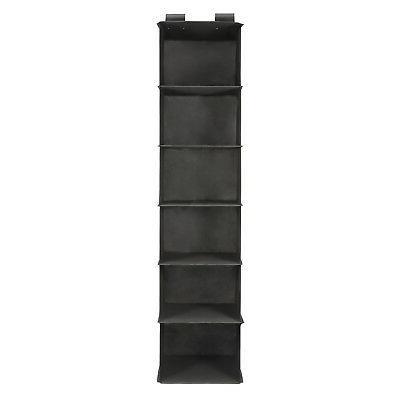 6-Shelf Closet Socks Storage Hanging Box Clothes