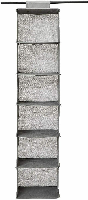 6 tier hanging shelf closet storage organizer