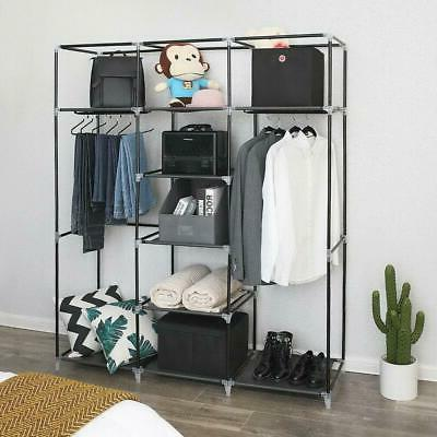 "69"" Closet Wardrobe Clothes Ample Storage Space Organizer"