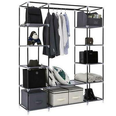 New Portable Wardrobe Clothes Organizer Durable