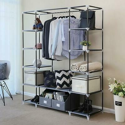 New Portable Wardrobe Rack Organizer Shelf